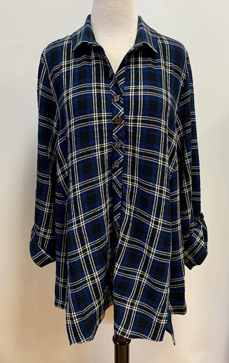 Royal Plaid Pocket Tunic