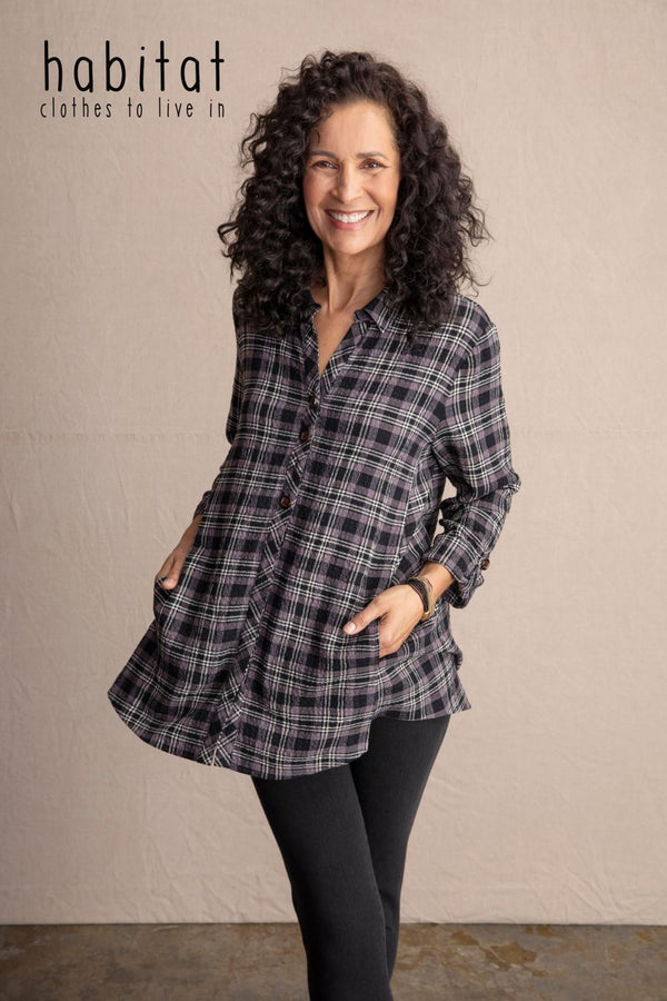 Sparrow Plaid Pocket Tunic
