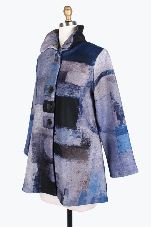 Flannel Soft Abstract Jacket