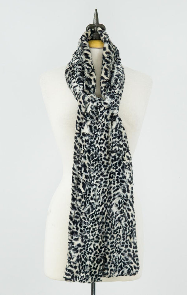 Cheetah Faux Fur Scarf
