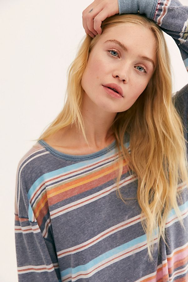 Sunset Stripe Printed Long Sleeve