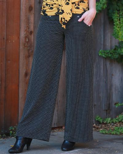 A'Pois Stretch Straight Pant