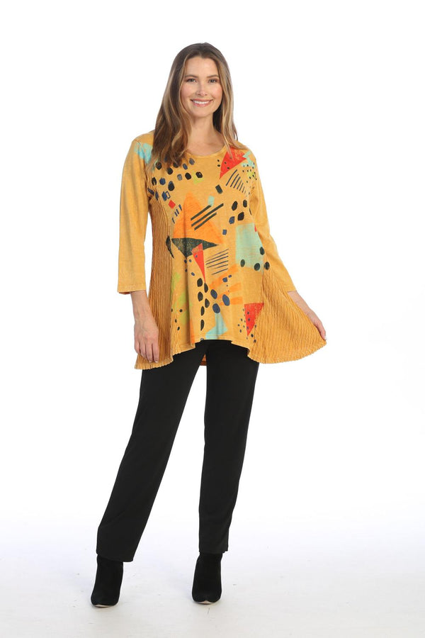 Gold Pop Art Contrast Tunic