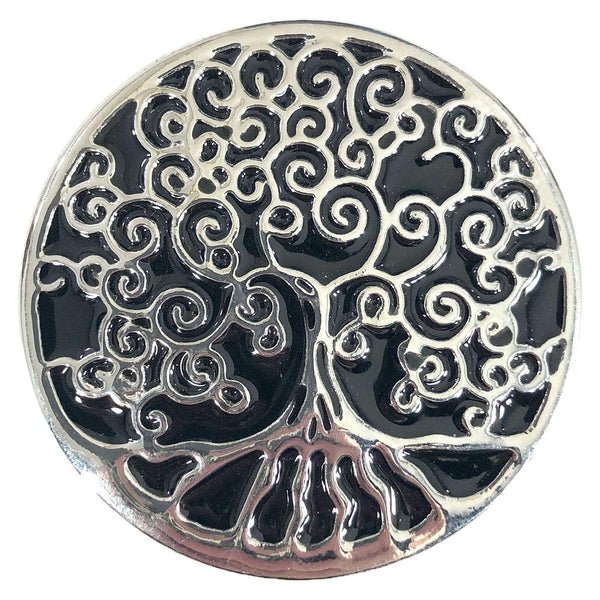 Resin & Silver Tree of Life Magentic Pin
