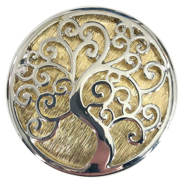 Silver & Gold Tree of Life Magentic Pin