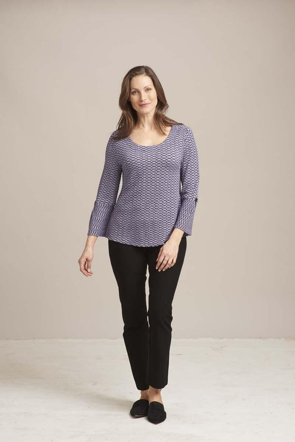 Lavender Pucker Flare Top