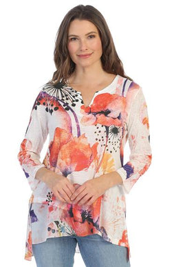 Chiffon Trim Poppy Top