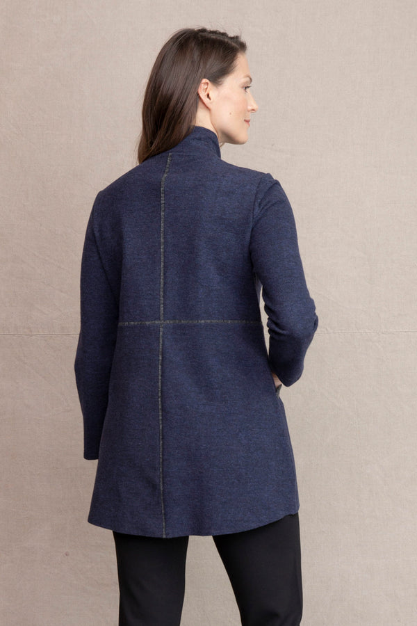 Denim Fleece Coat