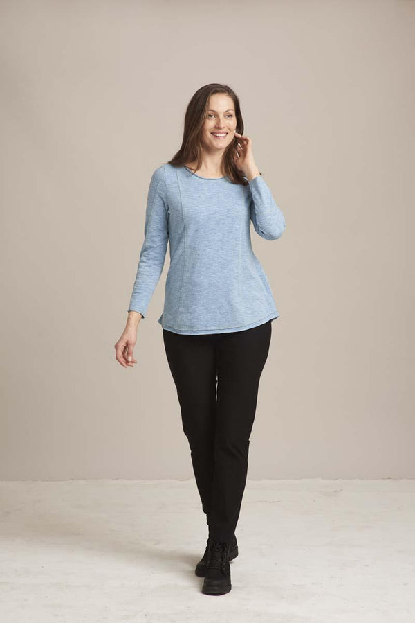 Soft Blue Seam Pullover