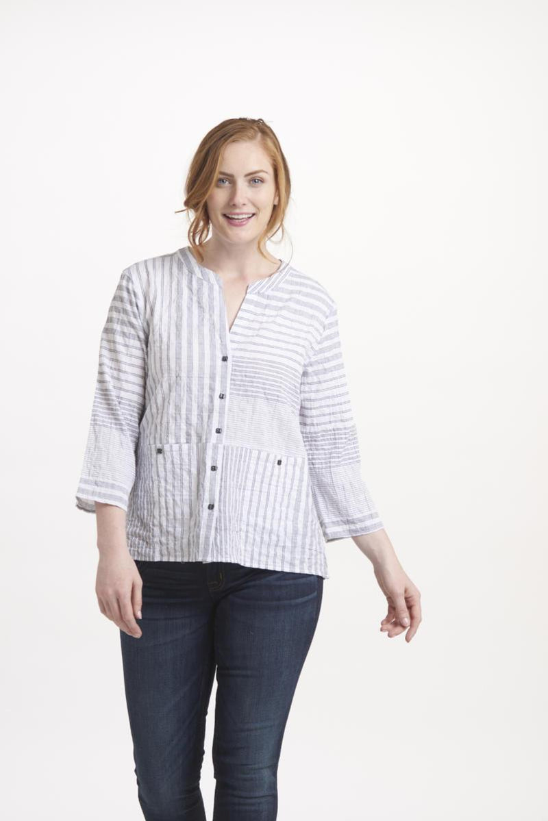 Stripe Mix Up Top