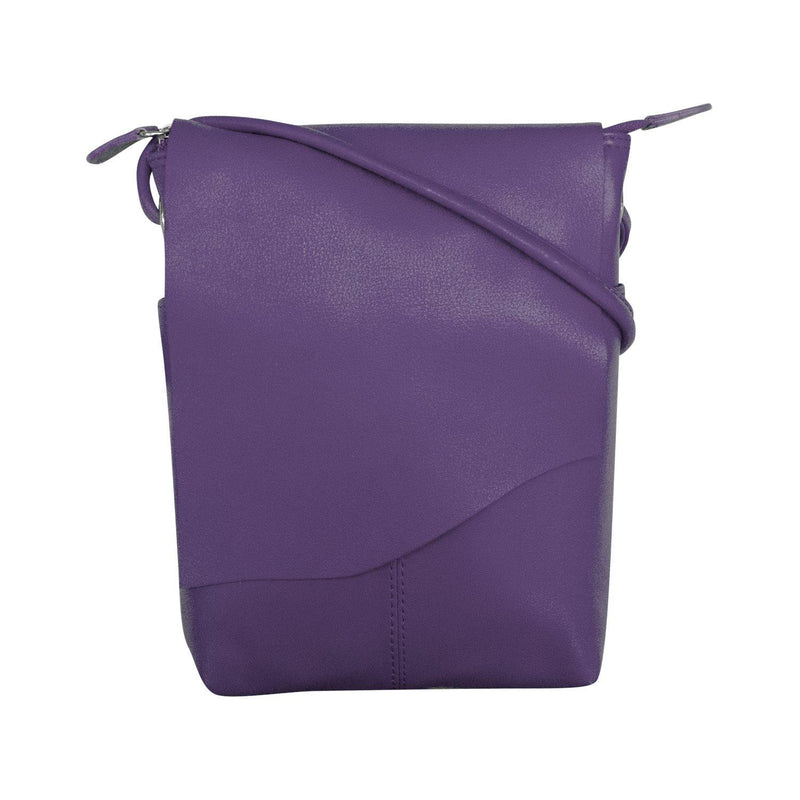 Purple Leather Crossbody