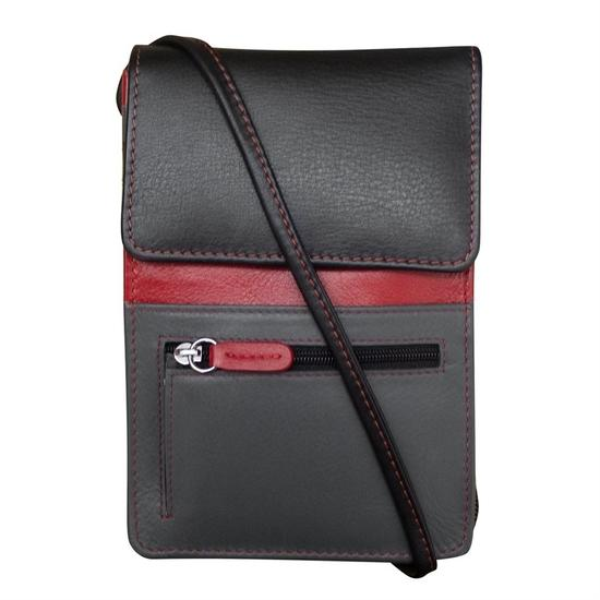 Black Red Grey Organizer Crossbody