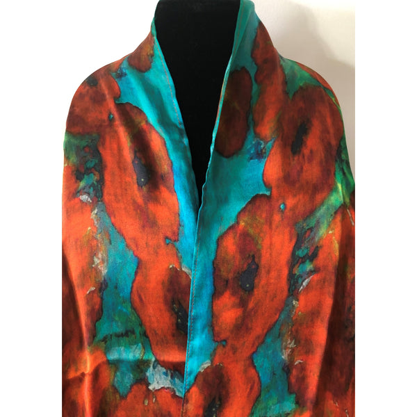 Poppy Love Silk Scarf