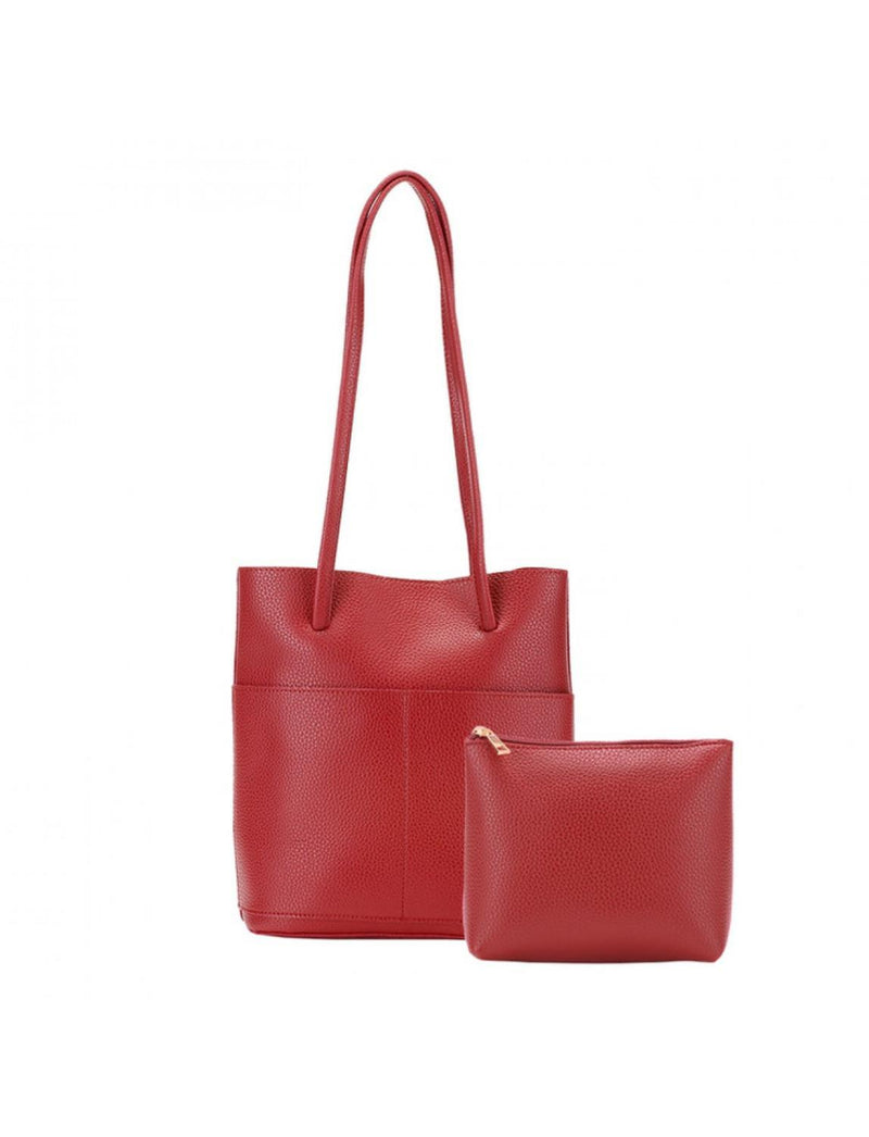 Red Set of 2 Tote