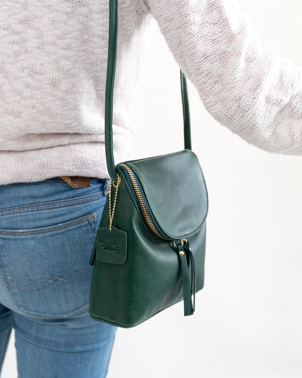 Pine Small Leather Crossbody