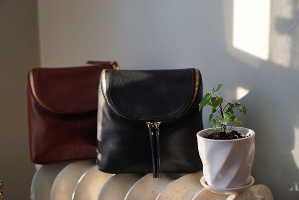Black Small Leather Crossbody