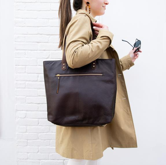 Black Leather Tote