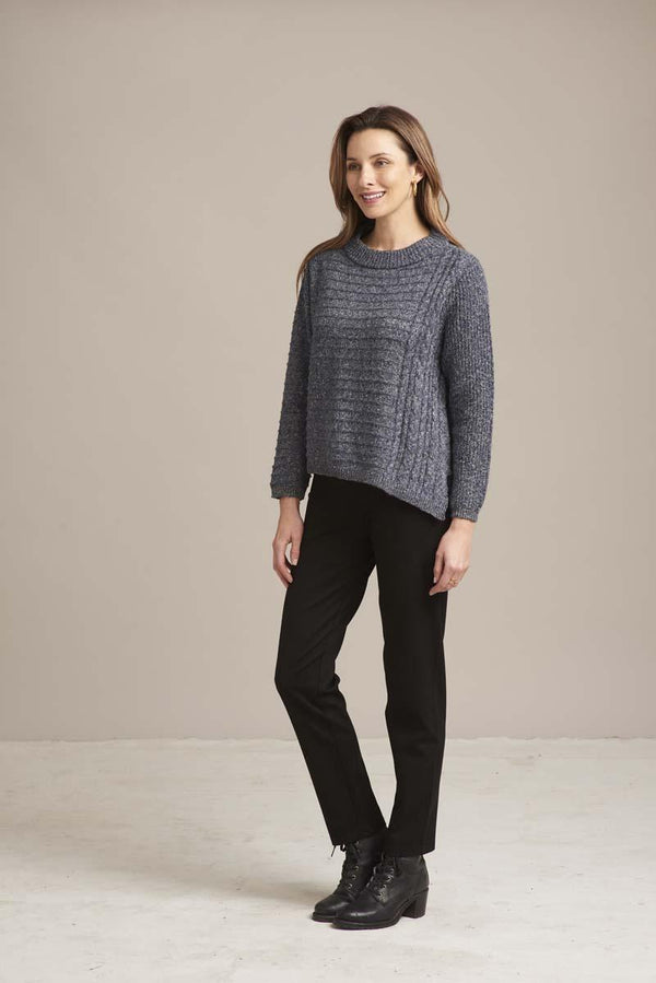 Diagonal Cable Sweater