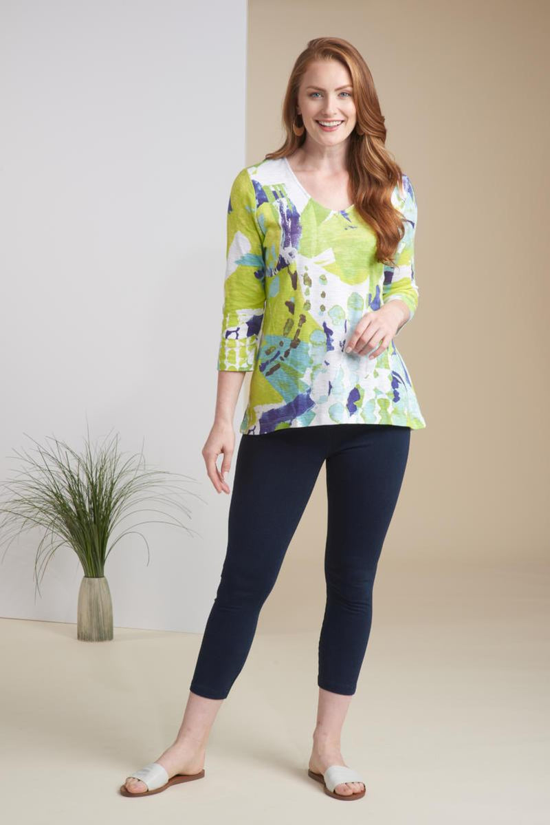 Lime Mix Cotton Swing Tunic