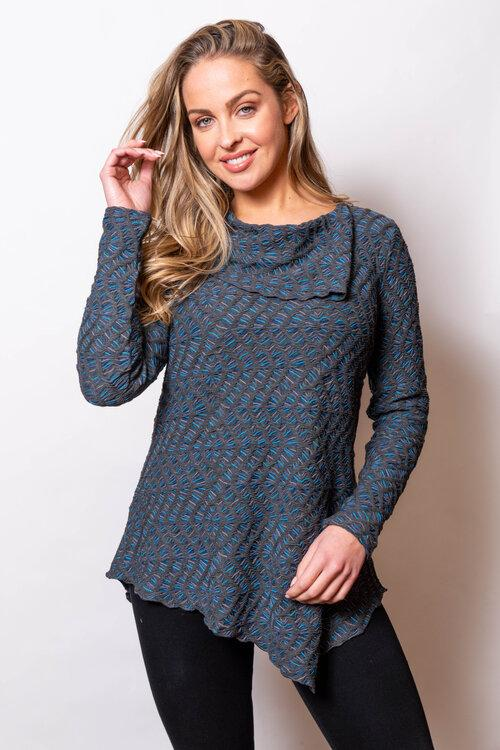 Moonstone Texture Asym Tunic