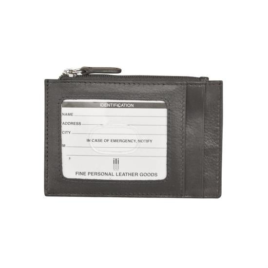 Grey Leather Credit Card Holder
