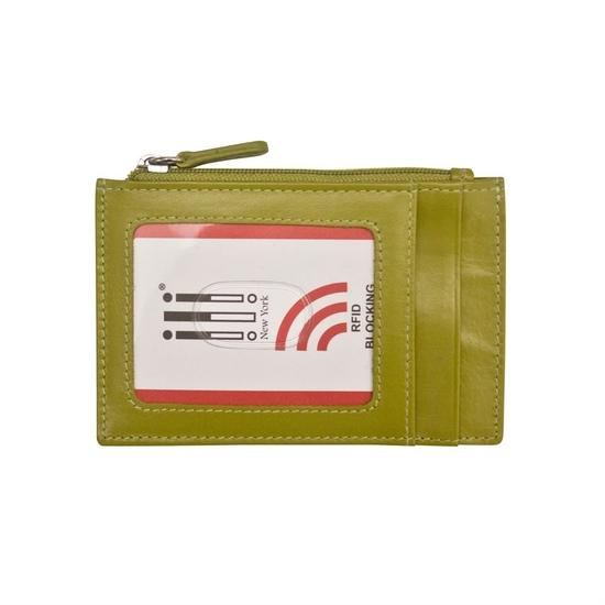 Green Leather Credit Card Holder