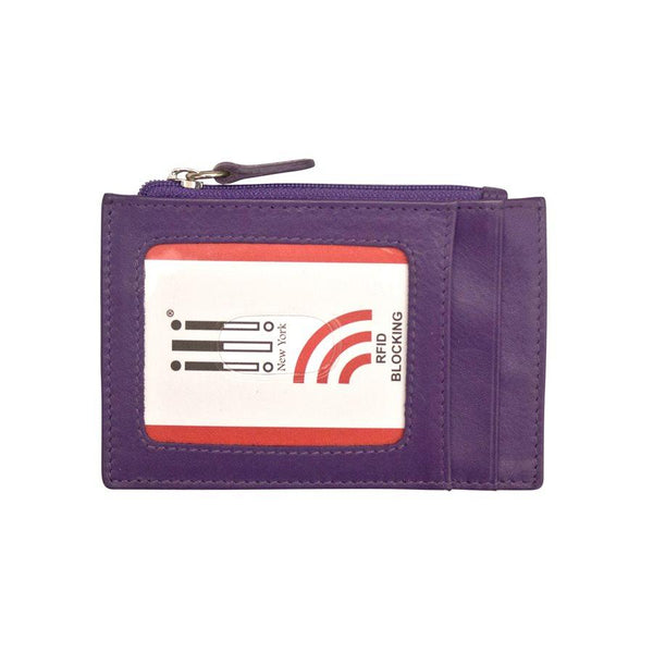 Purple Leather Credit Card Holder
