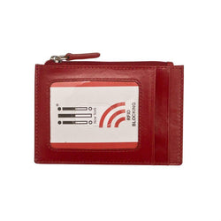 Red Leather Credit Card Holder