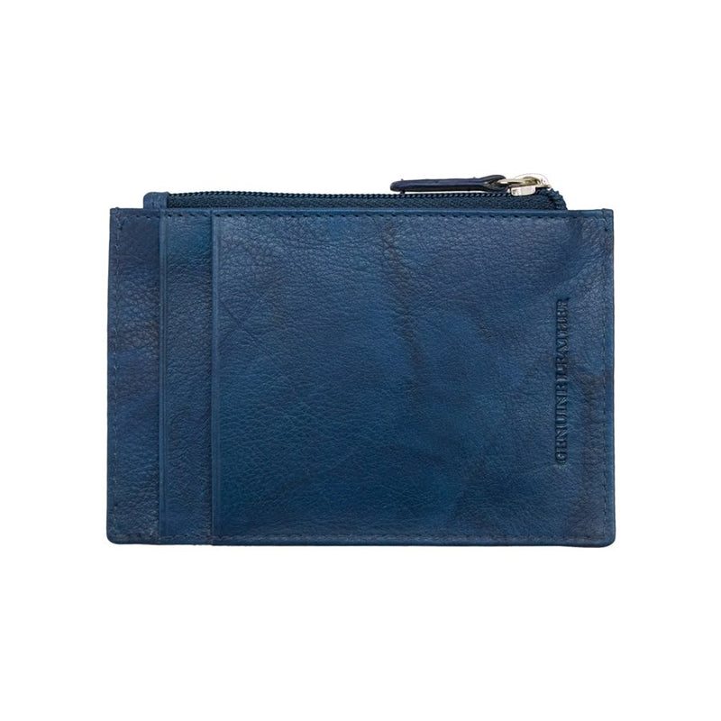 Blue Jean Leather Credit Card Holder