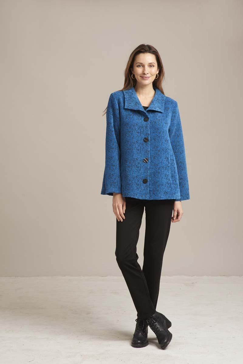 Parisian Blue Swing Coat