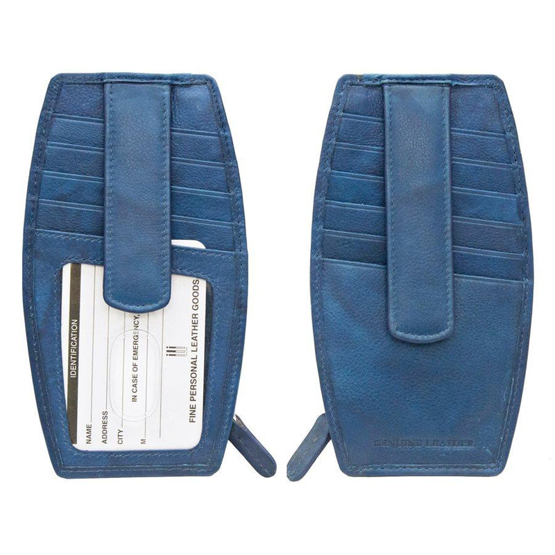 Denim Leather Credit Card Case