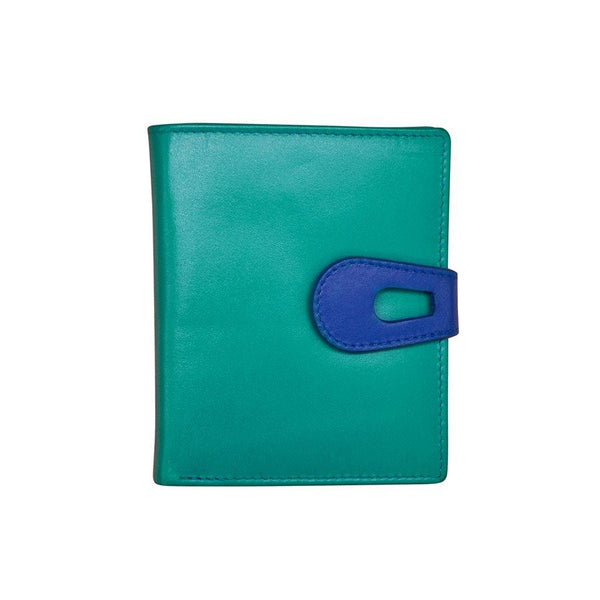 Aqua Leather Wallet