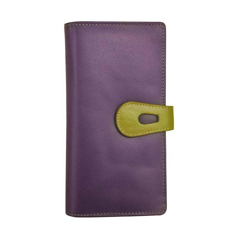 Purple Large Leather Wallet