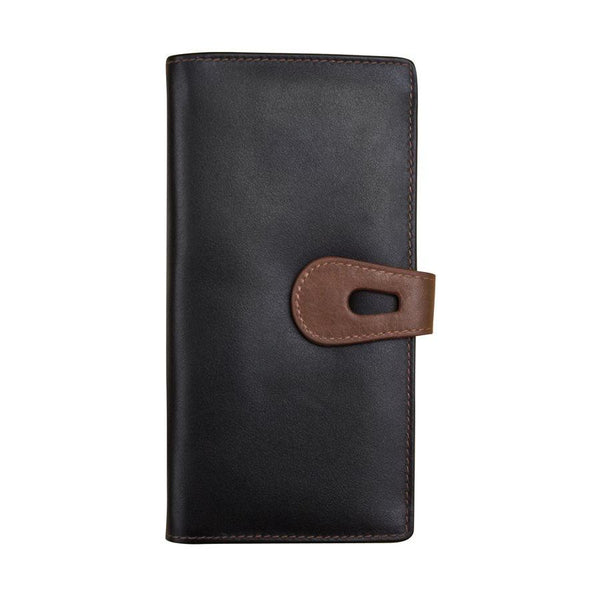 Black & Brown Large Leather Wallet