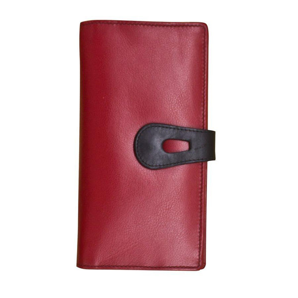 Red Large Leather Wallet