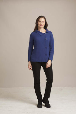 Blue Side Button Pullover