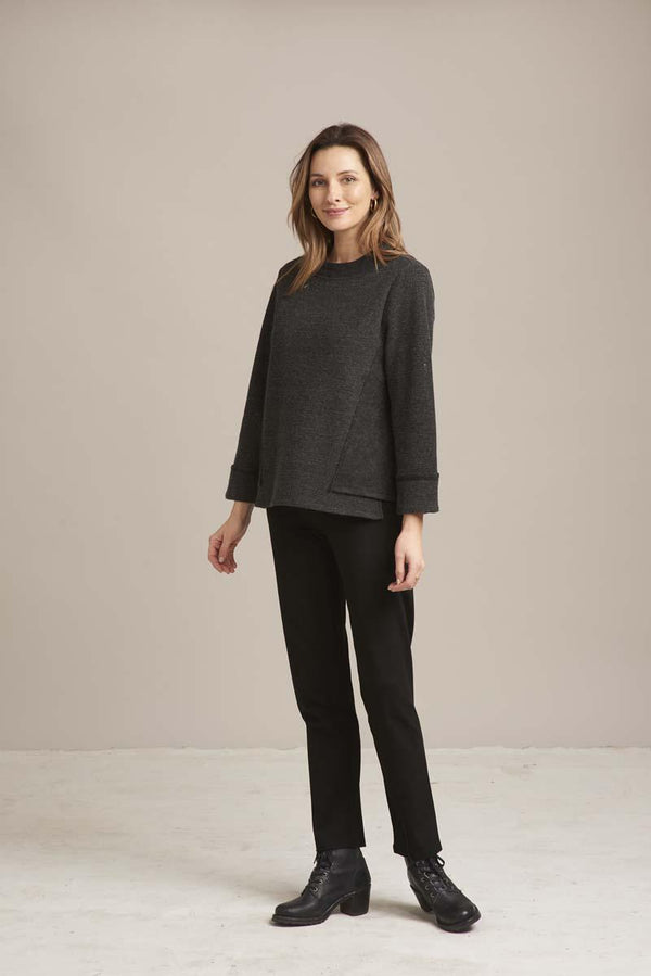 Fleece Funnel Neck Top