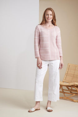 Rose Mixed Stripe Sweater