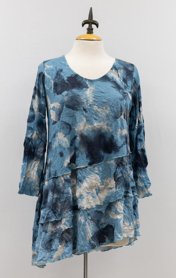 Blue Mix Crinkle Tunic