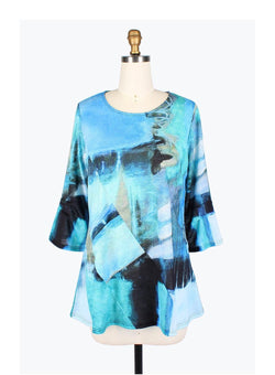 Watercolor Blues Pocket Tunic