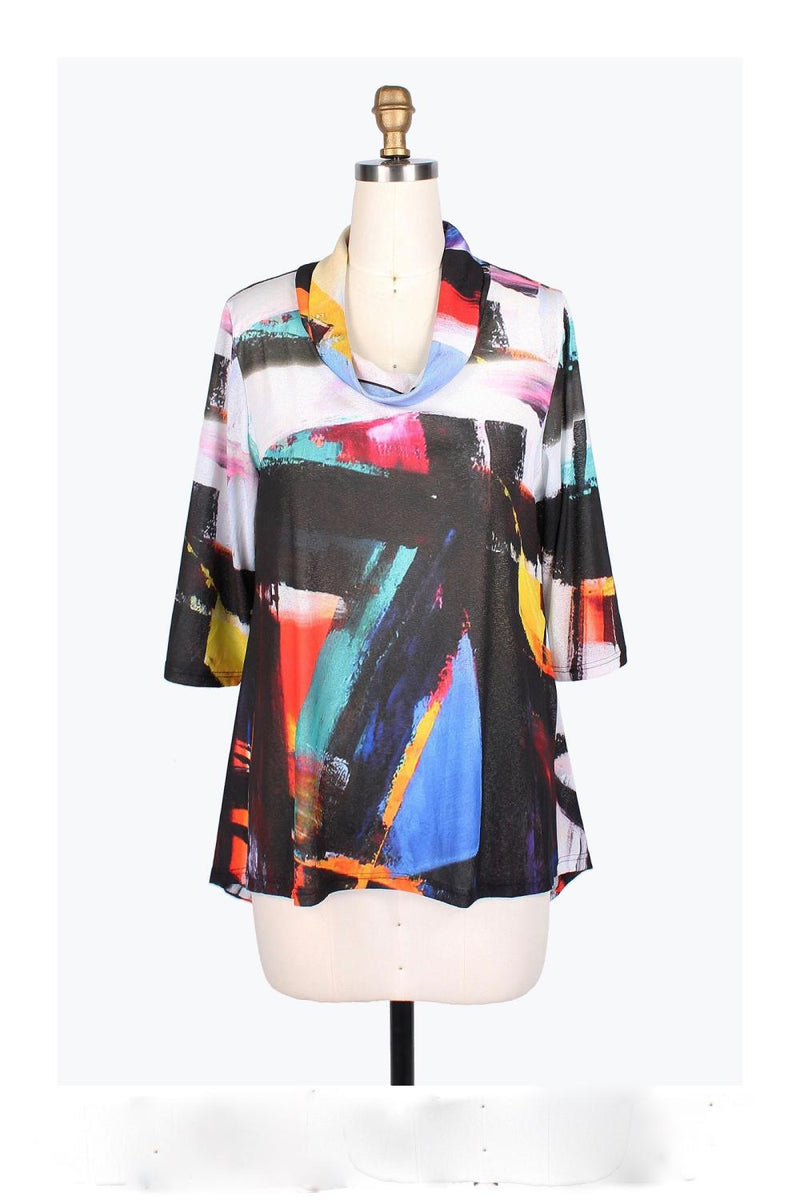 Abstract Round Neck Tunic