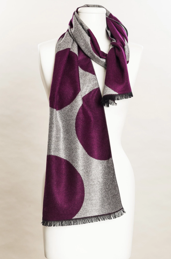 Eggplant Dotted Scarf