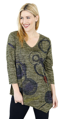 Olive Slub Sweater Tunic