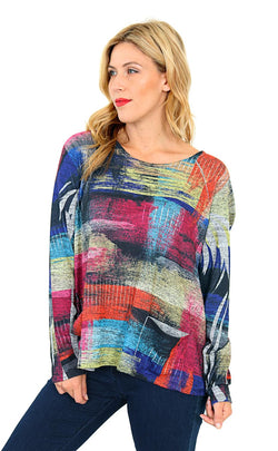 Paint Roller Sweater Top