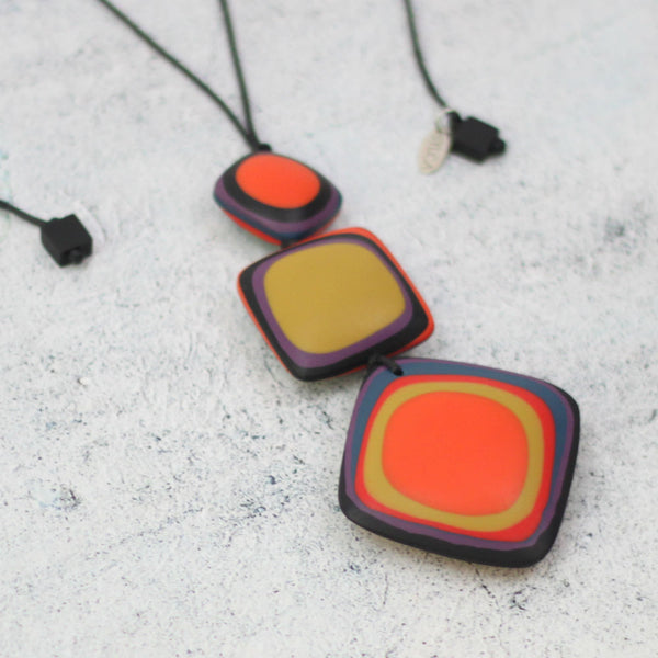 Fire Pendant Necklace