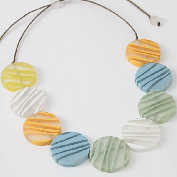 Pastel Zebra Necklace