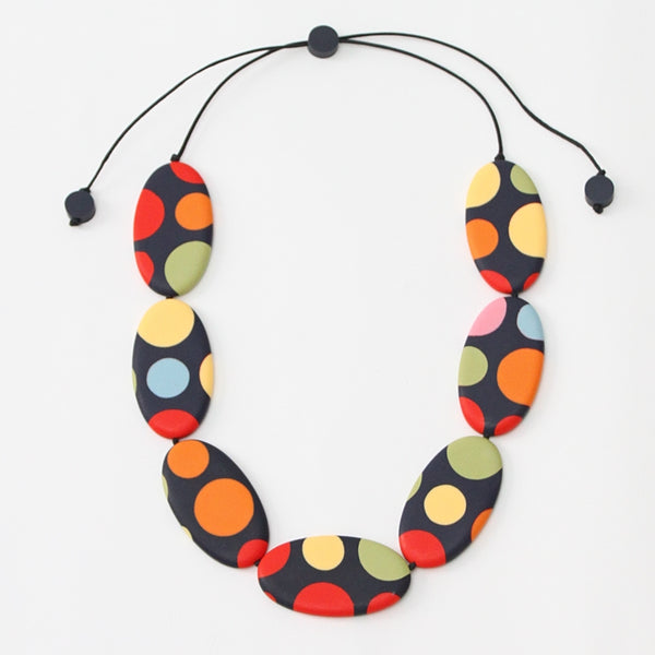 Darcy Rainbow Stripe Necklace