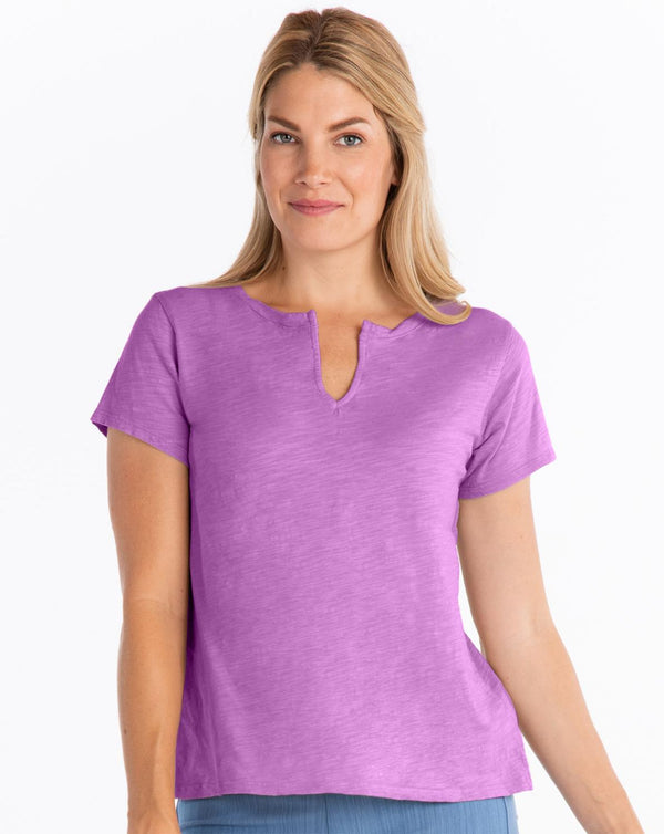 Split Neck PurpleTee