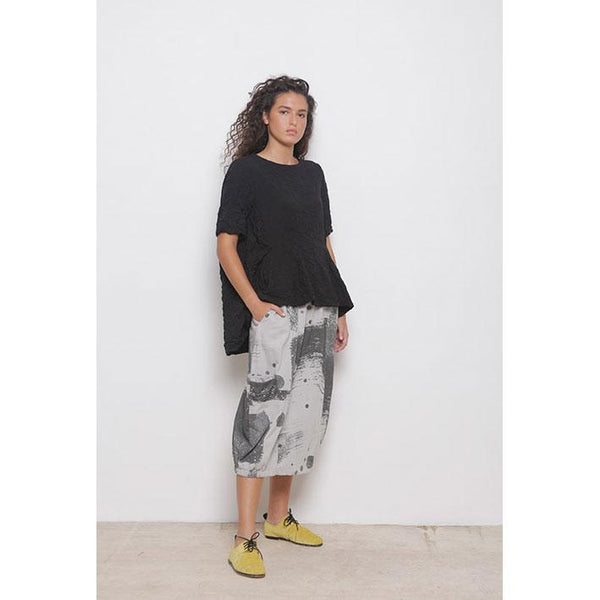 Brushstroke Pocket Skirt