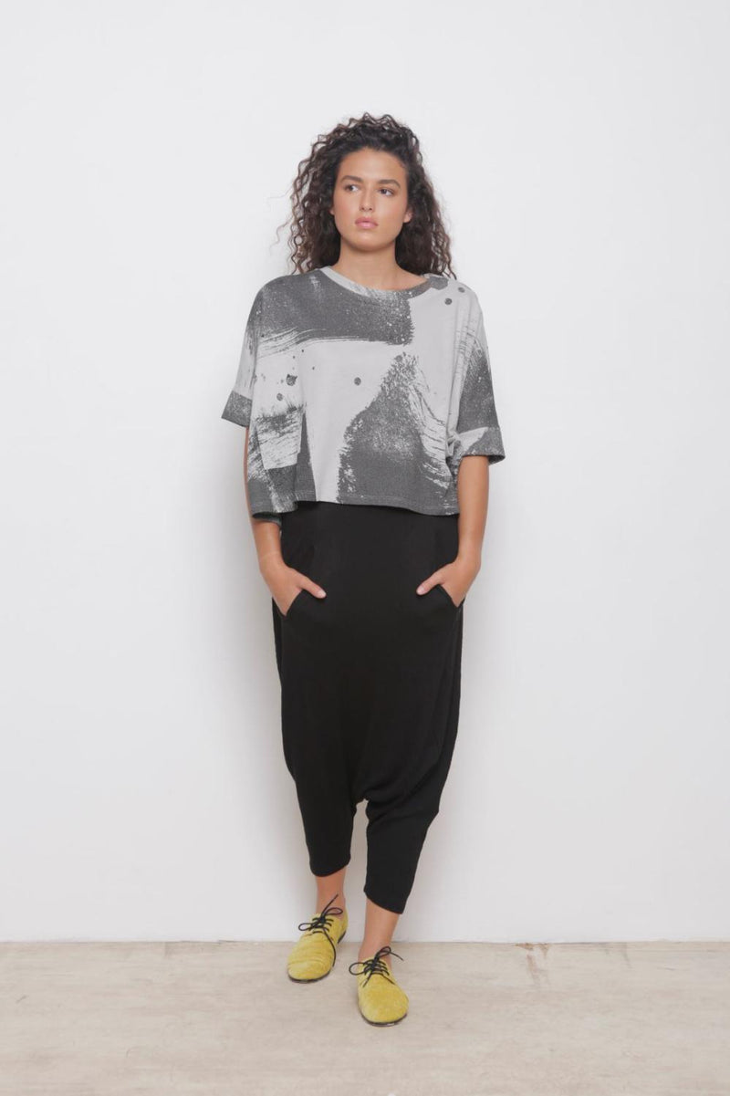 Brushstroke Pocket Top